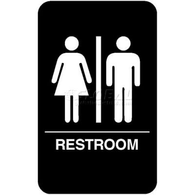 "Vollrath, Restroom Braille Symbol Sign, 5633, 6"" X 9"""