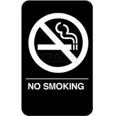 """Vollrath, No Smoking Braille Symbol Sign, 5638, 6"""" X 9"""""""