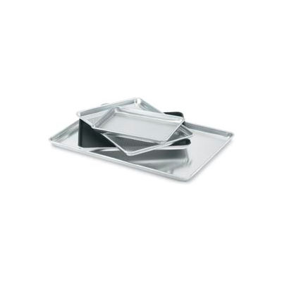 "Half Size Bun Pan - 17-3/4""W X 12-7/8""D X 1""H 18 Ga. Aluminum Half Perforated - 5303p - Pkg Qty 12"