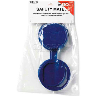 Vollrath 7023 - Traex Safety Mate Insta Chill Replacement Tethered Cap - Pkg Qty 4