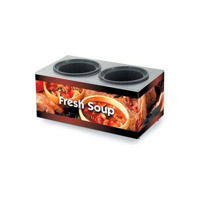 Vollrath® Cayenne® 7203003,  Twin Well 7 Qt. Soup Merchandisers - Base Country Kitchen