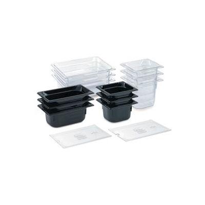 "1/2 Super Pan 3® 65mm, 2-1/2"" - Black Plastic Pan - Pkg Qty 6"