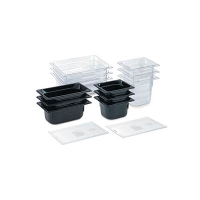 "1/6 Super Pan 3® 100mm, 4"" - Clear Plastic Pan - Pkg Qty 6"