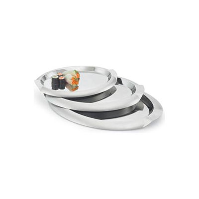 """Vollrath® Oval Stainless Steel Tray - 14-3/4""""L X 10-7/8""""W - Pkg Qty 3"""