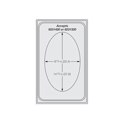Miramar™ Satin SS Single Template - One Large Oval