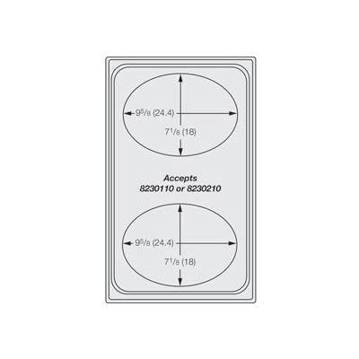Miramar™ Night Sky Single Template - Two Small Ovals