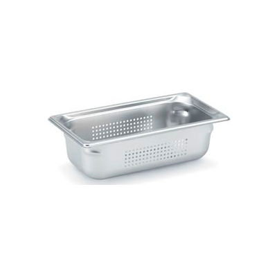 "1/3 Super Pan 3® Perforated Pan 100mm, 4""D - Pkg Qty 6"