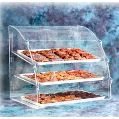 Acry Fab, Euro Curved Bakery Case, ELBC-2, Large, Front & Rear Doors