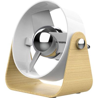 Sharper Image® SBS1 Series Soft Blade Small USB Fan, Ice - Pkg Qty 6