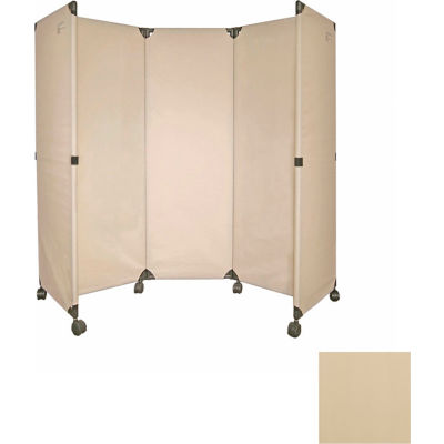 Portable Mobile Room Divider, 6' Beige