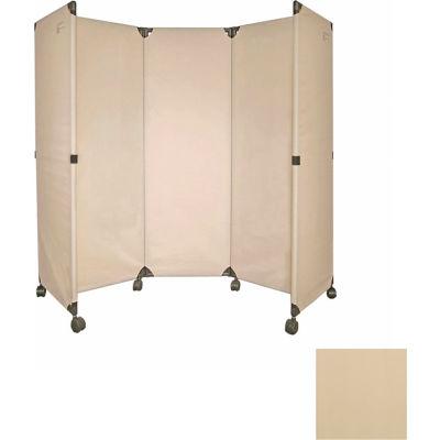 Portable Mobile Room Divider, 6' Beige