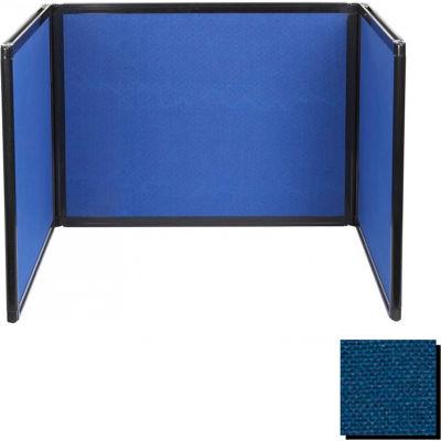 "Versare Tabletop Partition 23""W x 23""D x 24""H Fabric, Navy Blue"