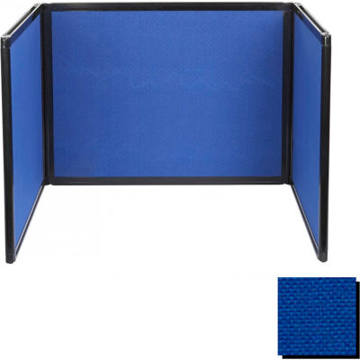 Tabletop Display Partition 24x78 Fabric, Royal Blue