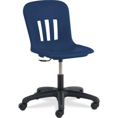 Virco® N9TASK18 Metaphor® Mobile Chair, Navy Seat