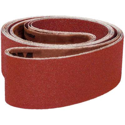 "VSM Abrasive Belt, 101978, Aluminum Oxide, 2 1/2"" X 72"", 40 Grit - Pkg Qty 10"