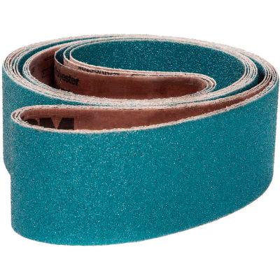 "VSM Abrasive Belt, 106800, Zirconia Alumina, 8"" X 107"", 40 Grit - Pkg Qty 10"