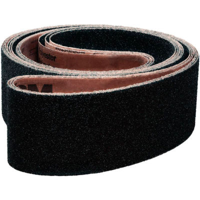 "VSM Abrasive Belt, 15595, Silicon Carbide, 3"" X 21"", 100 Grit - Pkg Qty 10"