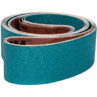 "VSM Abrasive Belt, 207981, Zirconia Alumina, 4"" X 54"", 100 Grit - Pkg Qty 10"