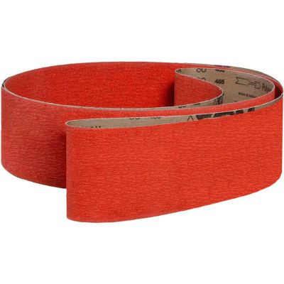 """VSM Abrasive Belt, 291181, Ceramic, 2"""" X 36"""", 80 Grit - Pkg Qty 10"""