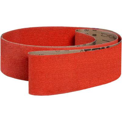"""VSM Abrasive Belt, 300028, Ceramic, 8"""" X 107"""", 100 Grit - Pkg Qty 10"""