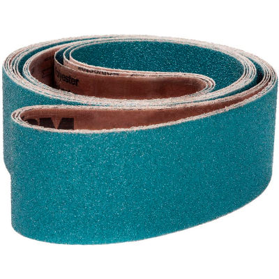 "VSM Abrasive Belt, 81337, Zirconia Alumina, 6"" X 48"", 80 Grit - Pkg Qty 10"