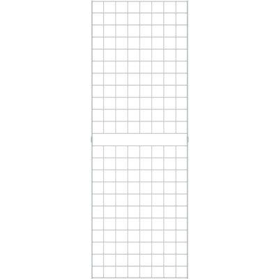 2' x 6' - Portable Wire Grid Wall Panel - Semi-Gloss White