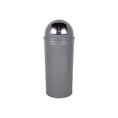 """Tall Trash Container For Use W/Dome Tops, Gray, 80 Quart, 16""""Dia X 29""""H - Pkg Qty 3"""