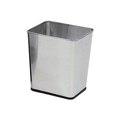 "Rectangular Wastebasket, Stainless Steel, 7.25 Gal., 13.5""Dia X 15.5""H X 11""D - Pkg Qty 3"