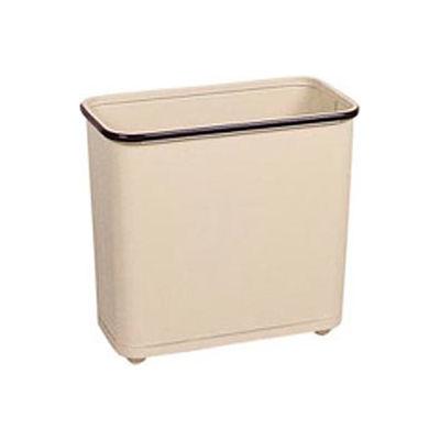 "Rectangular Wastebasket, Almond, 30 Quart, 17""W X 15""H X 8""D - Pkg Qty 3"