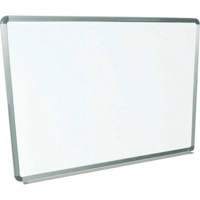 Global Industrial™ Magnetic Whiteboard - 48 x 36 - Steel Surface - Aluminum Frame