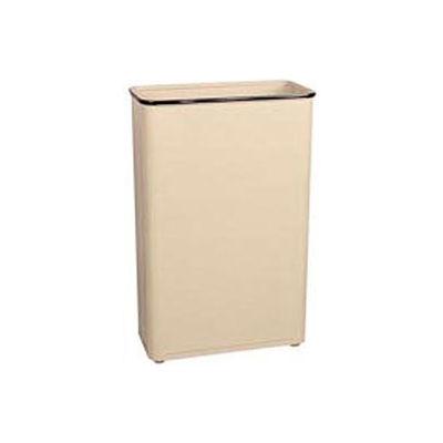 "Tall Rectangular Trash Container, Almond,96 Quart, 21""W X 30""H X 11""D - Pkg Qty 3"