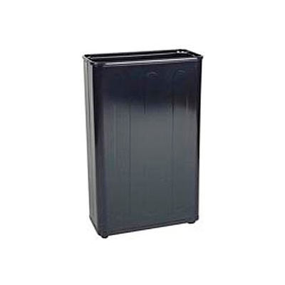 "Tall Rectangular Trash Container, Black,96 Quart, 21""W X 30""H X 11""D - Pkg Qty 3"