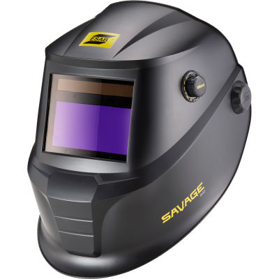 "ESAB® Savage A40 Variable Shade (9-13) Welding Helmet, Black, 4 Arc, 3.93"" X 1.96"" View Area"