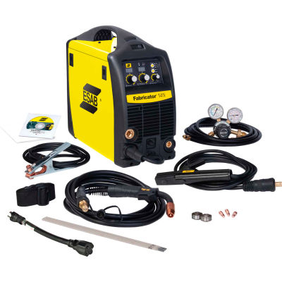 ESAB® Fabricator® 141I MIG/TIG/STICK Welding Package with CART, 140A, 13' Cable, 1 Phase
