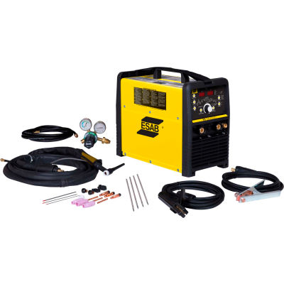 ESAB® ET186i AC/DC TIG/STICK Welder Package w/ Foot Control, 208/230V, 200A, 1 Phase, 13' Cable
