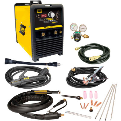 ESAB® ET 141i AC/DC TIG/STICK Welder Package, 120V, 140A, Single Phase, 13' Cable, Yellow