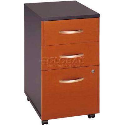 Bush Furniture Three Drawer File Cabinet (Unassembled) - Auburn Maple - Series C