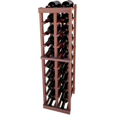 Individual Bottle Wine Rack - 2 Columns, 4 ft high - Mahogany, All-Heart Redwood