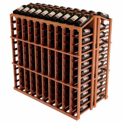 Vintner Commercial Island W/Individual Bottle Rails - All-Heart Redwood, Walnut