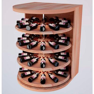 Bulk Storage, Rotating Wine Bottle Cradle, 4-Level 4 Ft high - Walnut, All-Heart Redwood