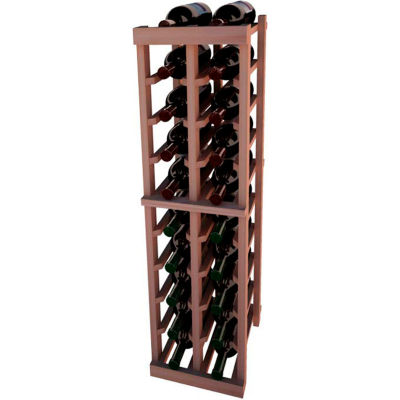 Individual Bottle Wine Rack - 2 Columns, 4 ft high - Unstained All-Heart Redwood