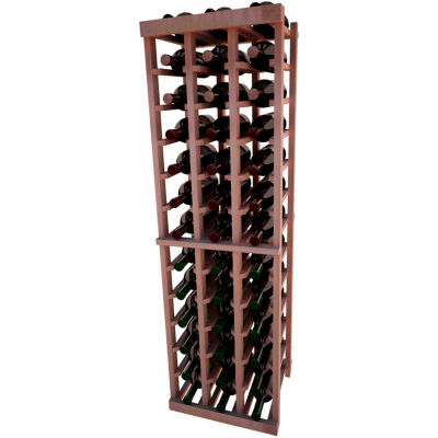 Individual Bottle Wine Rack - 3 Columns, 4 ft high - Unstained All-Heart Redwood