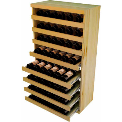 Bulk Storage, Pull Out Wine Bottle Cradle, 8-Drawer 3 Ft high - Mahogany, Pine