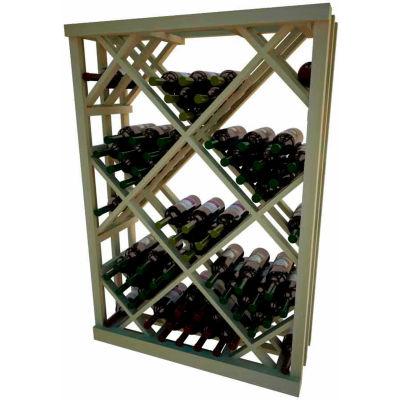 Diamond Bin Wine Rack - 4 ft high - Walnut, Pine