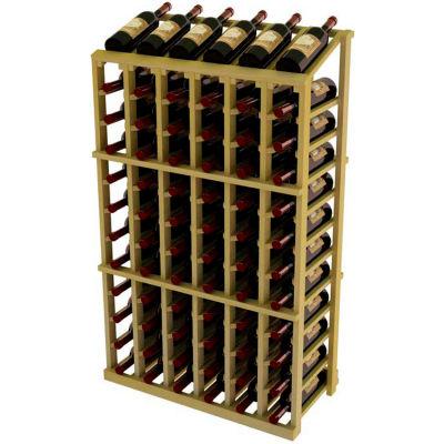 Vintner Commercial 6 Column Merchandiser W/Individual Bottle Rails - Pine, Black