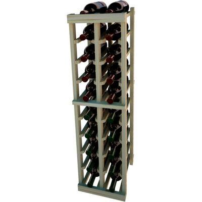 Individual Bottle Wine Rack - 2 Columns, 4 ft high - Black, Pine