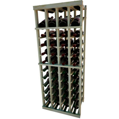 Individual Bottle Wine Rack - 4 Column W/Top Display, 4 ft high - Unstained Pine