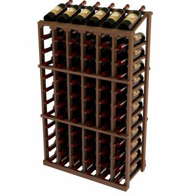 Vintner Commercial 6 Column Merchandiser W/Individual Bottle Rails -  Mahogany, Mahogany