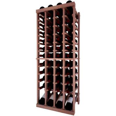 Individual Bottle Wine Rack - 4 Column W/Lower Display, 4 ft high - Light, Mahogany