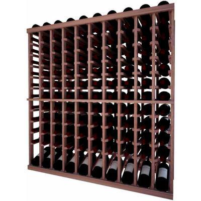 Individual Bottle Wine Rack - 10 Column W/Lower Display, 4 ft high - Black, Mahogany